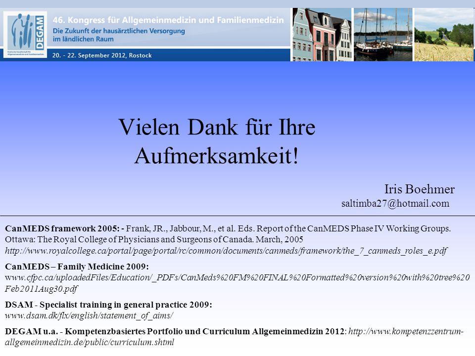 CanMEDS framework 2005: - Frank, JR., Jabbour, M., et al.