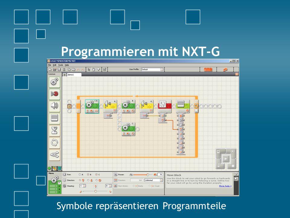 Programmieren mit NXT-G Symbole repräsentieren Programmteile