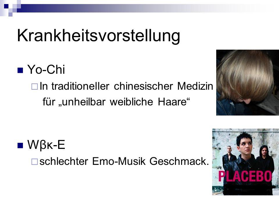 Krankheitsvorstellung Yo-Chi In traditioneller chinesischer Medizin für unheilbar weibliche Haare Wβκ-E schlechter Emo-Musik Geschmack.