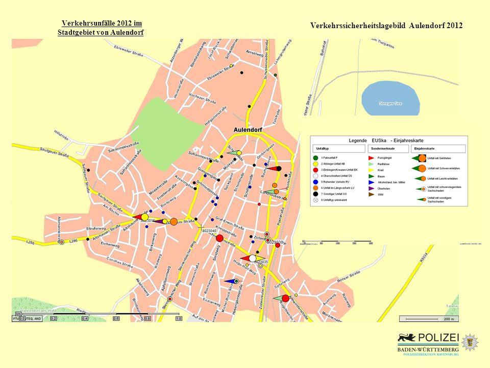 Verkehrsunfälle 2012 im Stadtgebiet von Aulendorf