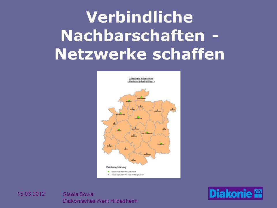15.03.2012 Gisela Sowa Diakonisches Werk Hildesheim Verbindliche Nachbarschaften - Netzwerke schaffen