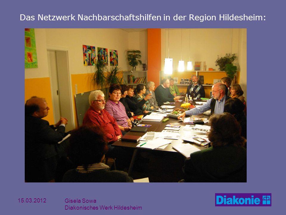 15.03.2012 Gisela Sowa Diakonisches Werk Hildesheim Das Netzwerk Nachbarschaftshilfen in der Region Hildesheim: