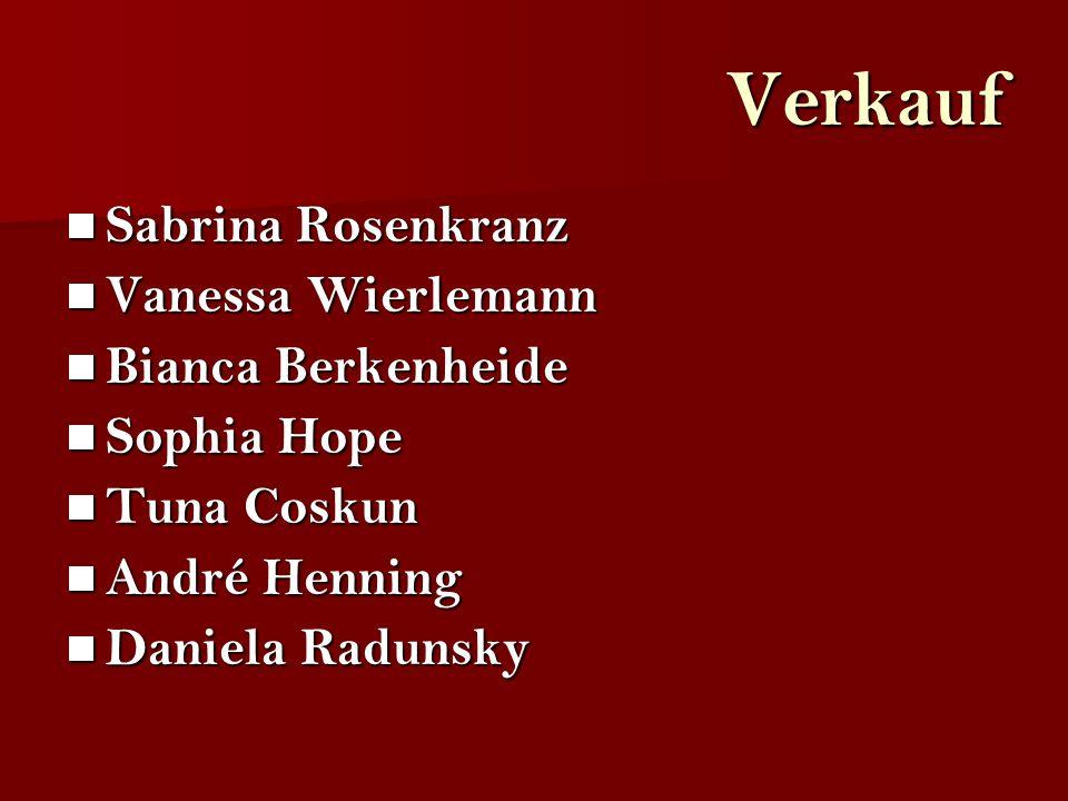 Verkauf Sabrina Rosenkranz Vanessa Wierlemann Bianca Berkenheide Sophia Hope Tuna Coskun André Henning Daniela Radunsky