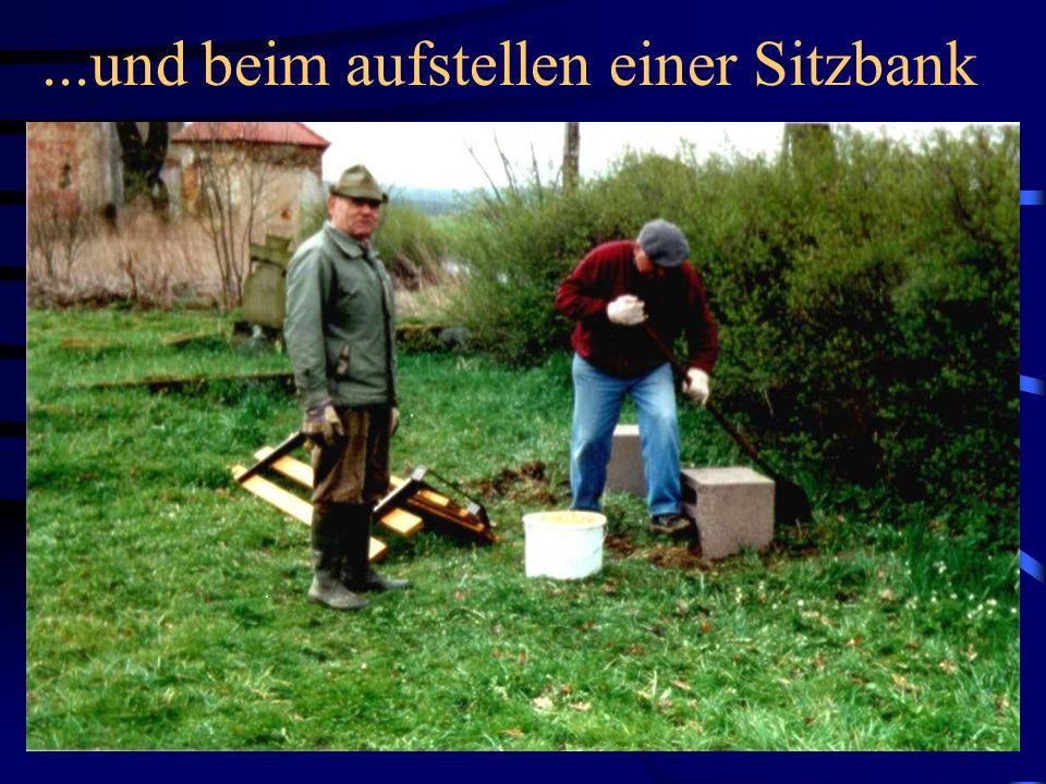 Freiwillige Helfer beim Schutt wegräumen...