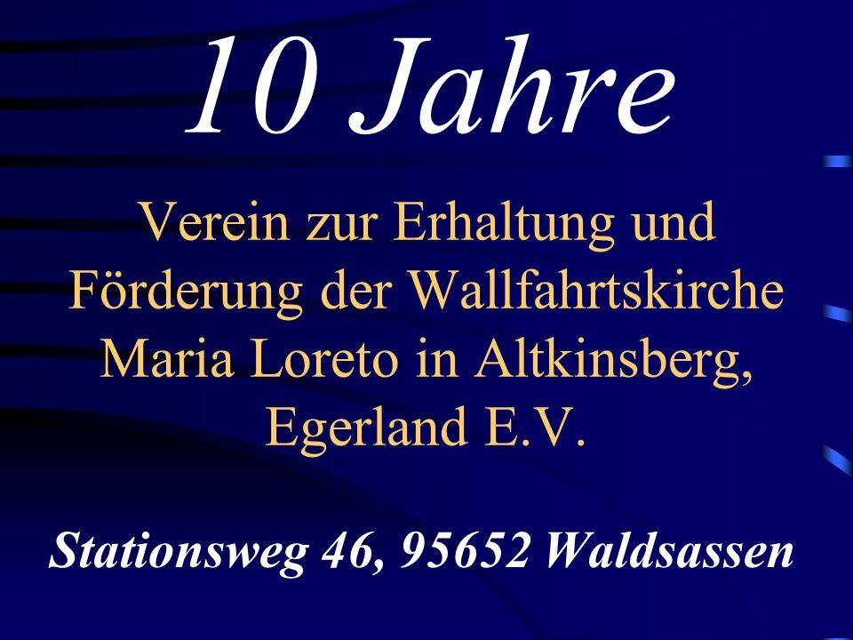 Herzlich Willkommen zur Mitgliederversammlung des Fördervereins Maria Loreto Jugendheim Waldsassen 05.