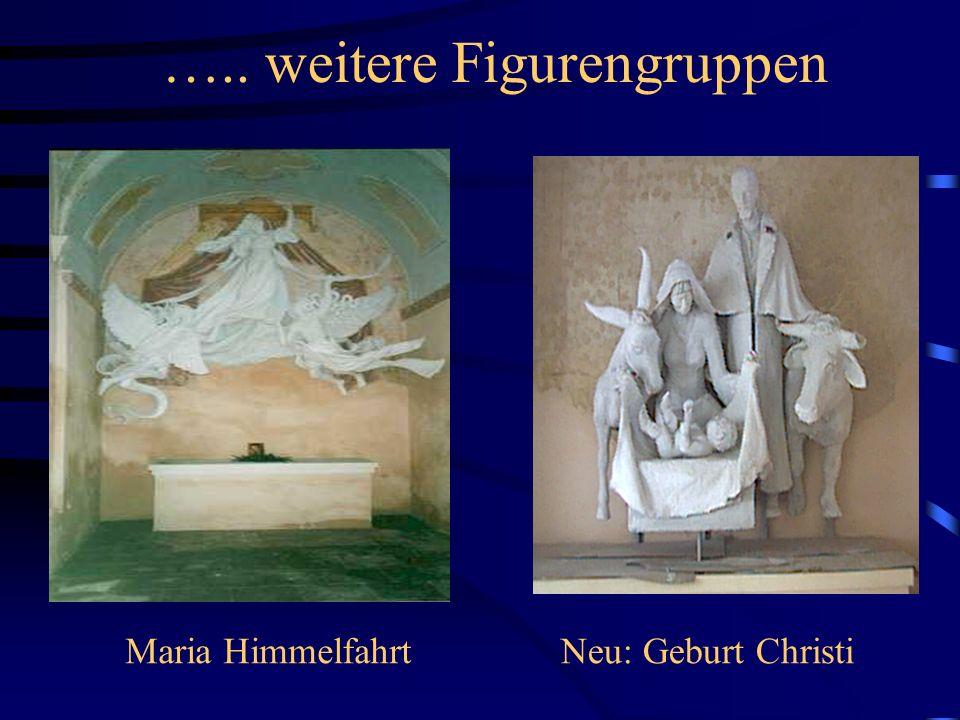 Die Skulpturen in den Eckkapellen Maria VerkündigungFlucht nach Ägypten