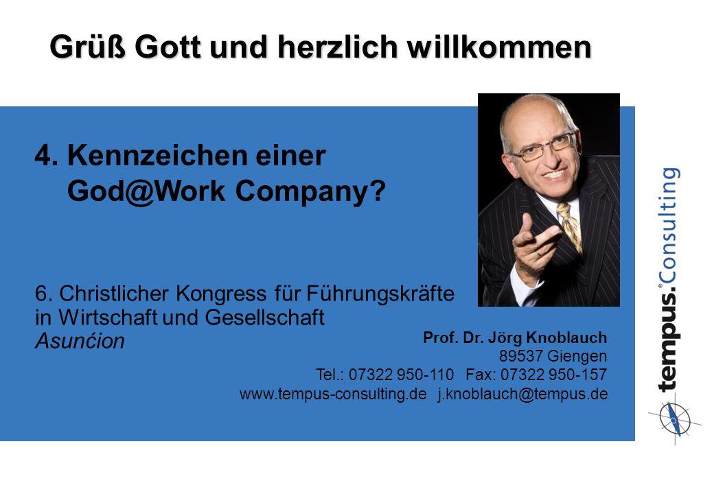 89537 Giengen · Tel.: 07322 950-110 · Fax: 07322 950-149 www.tempus-consulting.de · Knoblauch@tempus.de 6. Christlicher Kongress für Führungskräfte in