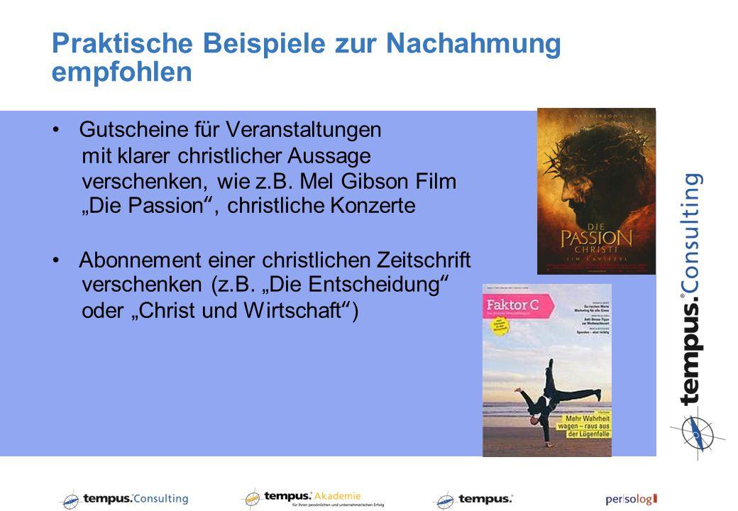 Gutscheine für Veranstaltungen mit klarer christlicher Aussage verschenken, wie z.B. Mel Gibson Film Die Passion, christliche Konzerte Abonnement eine