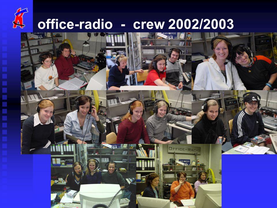 office-radio - zahlen Achtzehn Radio-RedakteurInnen produzieren für über 600 Studierende, die an der FH sind...