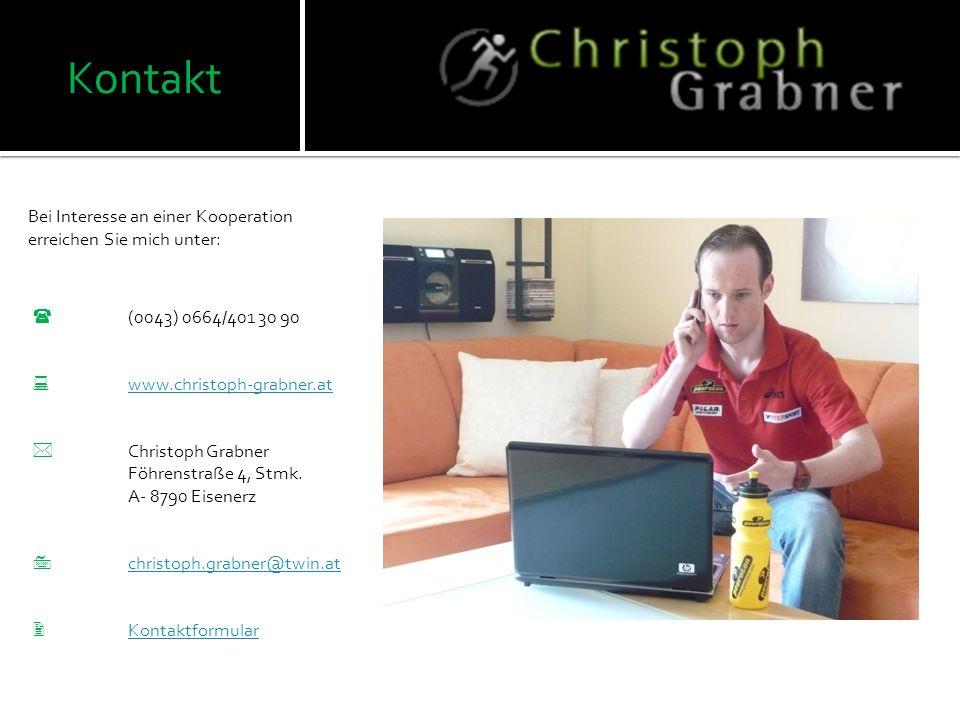 Referenzen Diese Referenzen stehen uns bei jedem Projekt zur Verfügung. Ankündigung auf der Homepage www.christoph-grabner.at www.christoph-grabner.at