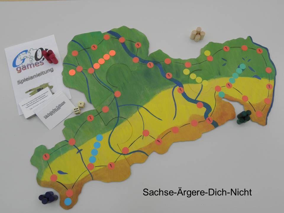 Was ist das? Spiel über den Freistaat Sachsen Echte Handarbeit Jedes Spiel ein Unikat
