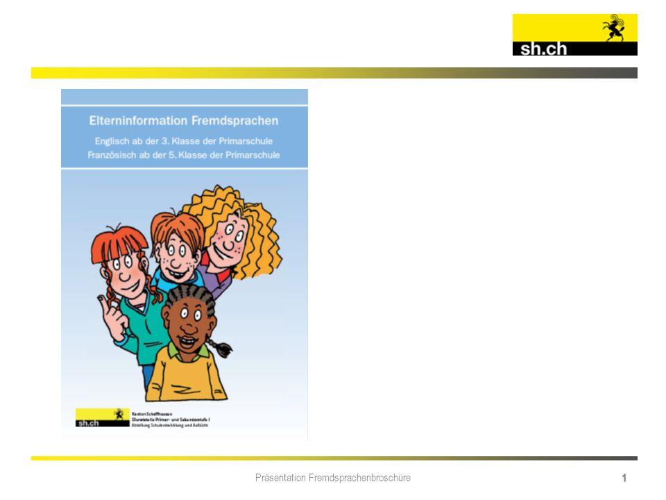 Präsentation Fremdsprachenbroschüre 1