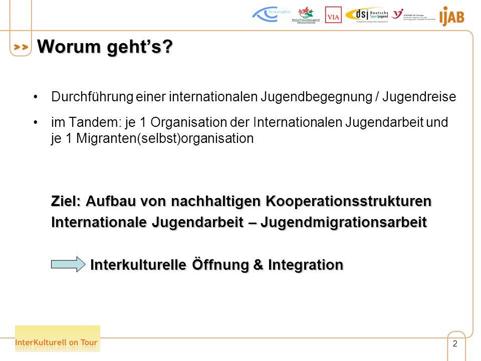 3 Ausgangsthesen Die internationale Jugendarbeit verfügt über besondere Potentiale, um einen eigenen Beitrag zur interkulturellen Öffnung der deutschen Gesellschaft und zur Integration von Jugendlichen mit Migrationshintergrund zu leisten.
