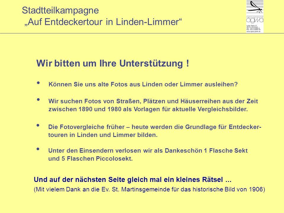 Stadtteilkampagne Auf Entdeckertour in Linden-Limmer Und auf der nächsten Seite gleich mal ein kleines Rätsel...