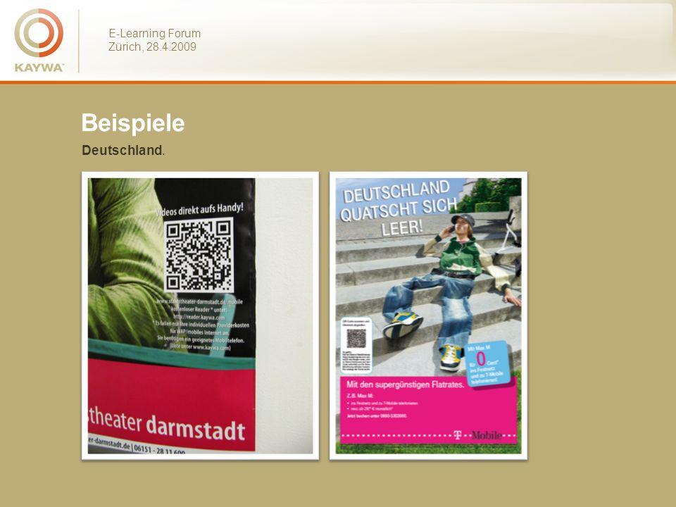 E-Learning Forum Zürich, 28.4.2009 Beispiele Deutschland.