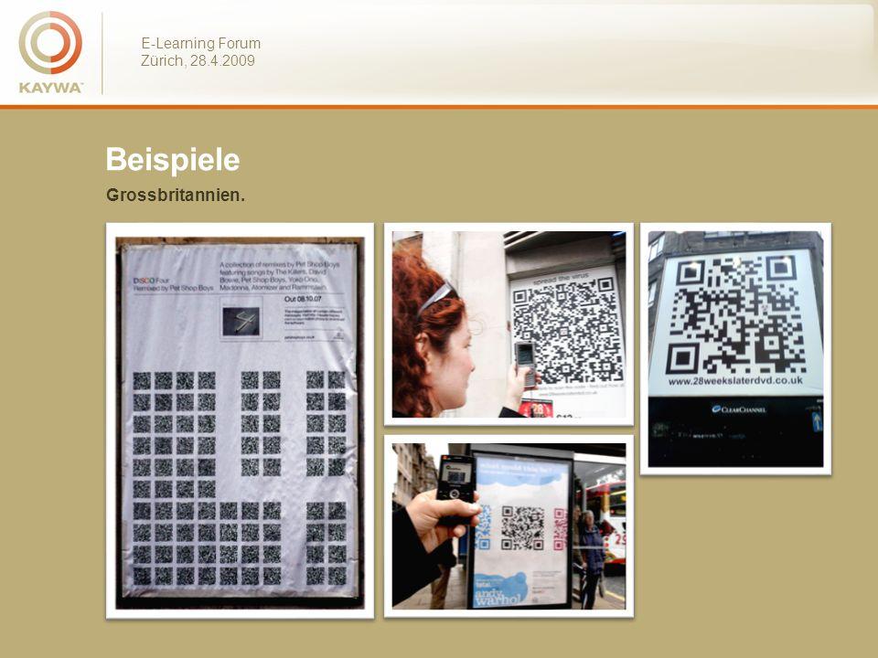 E-Learning Forum Zürich, 28.4.2009 Beispiele Grossbritannien.