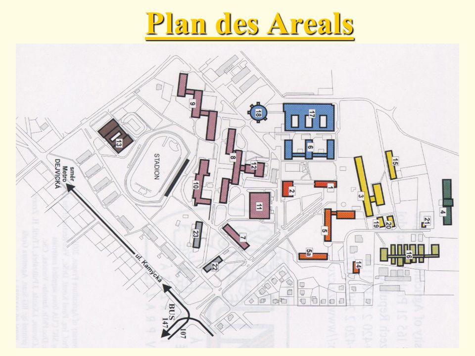 Plan des Areals