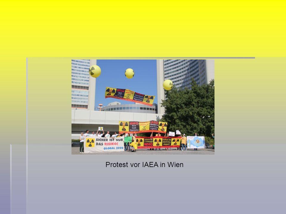 Protest vor IAEA in Wien