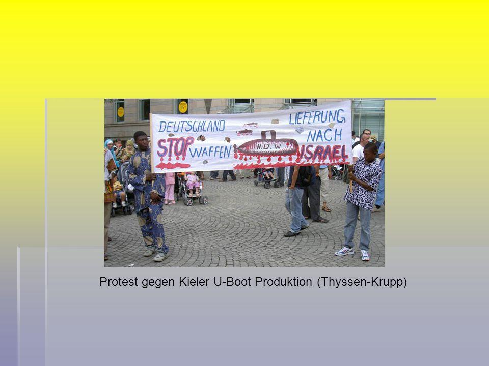 Protest gegen Kieler U-Boot Produktion (Thyssen-Krupp)