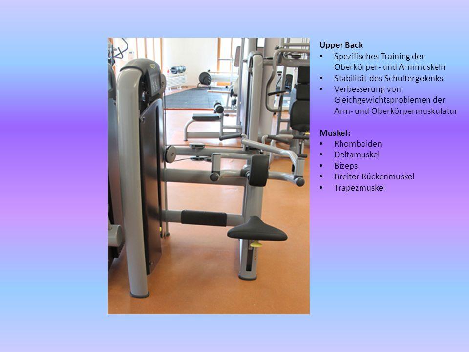 Upper Back Spezifisches Training der Oberkörper- und Armmuskeln Stabilität des Schultergelenks Verbesserung von Gleichgewichtsproblemen der Arm- und O