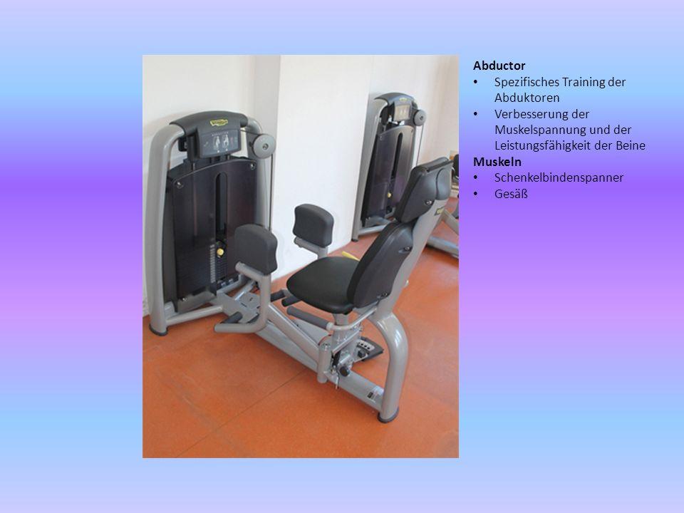 Adductor Spezifisches Training der Adduktoren Verbesserung der Muskelspannung und der Leistungsfähigkeit der Beine Muskel: Adduktoren