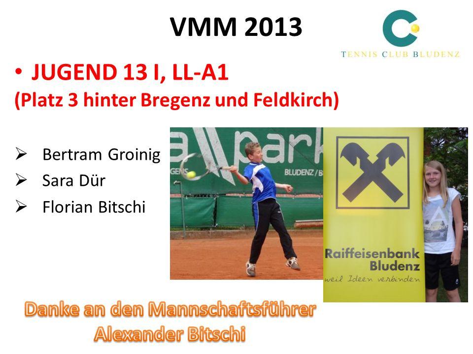 VMM 2013 JUGEND 13 II, LL-A2 (Vizemeister hinter TC Hard) Nicholas Kanazirev Lea Liepert Daniel Girtler Aadhya Chala
