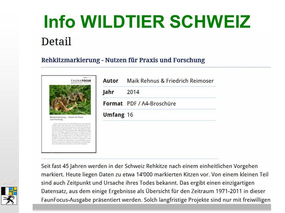 AJFAJF Info WILDTIER SCHWEIZ