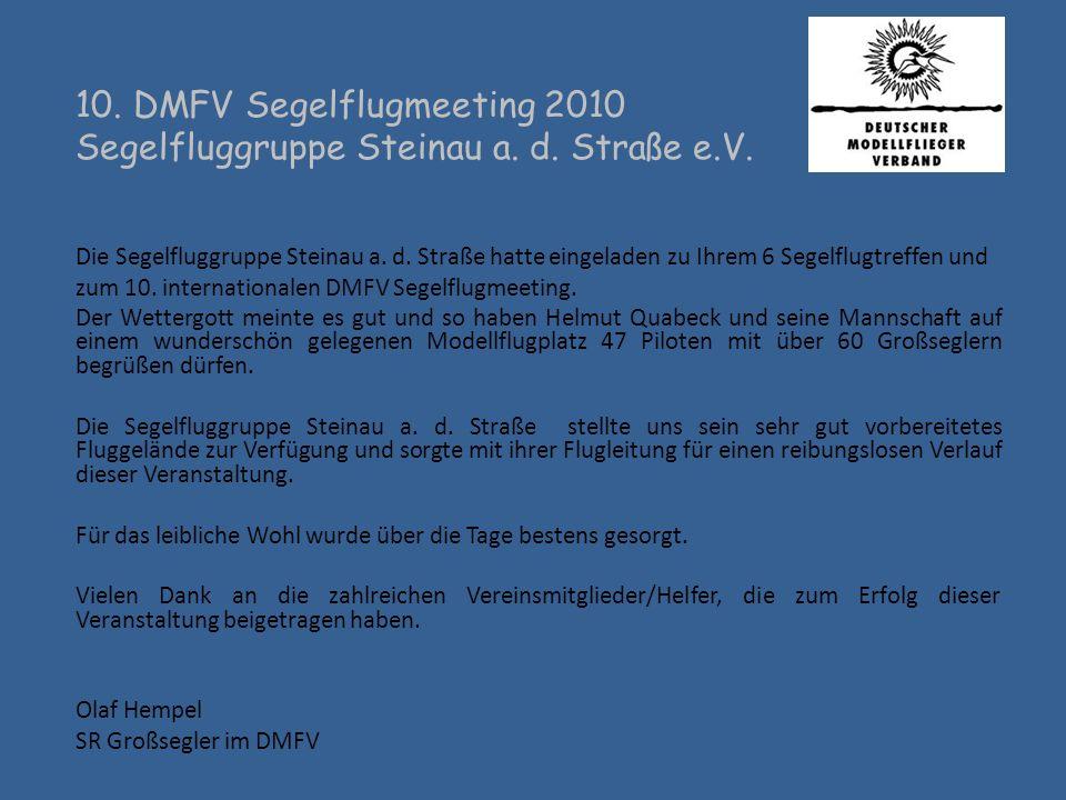 10. DMFV Segelflugmeeting 2010 Segelfluggruppe Steinau a. d. Straße e.V.