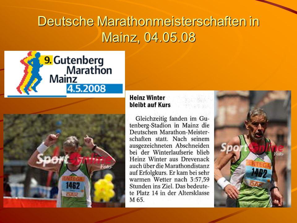 Deutsche Marathonmeisterschaften in Mainz, 04.05.08