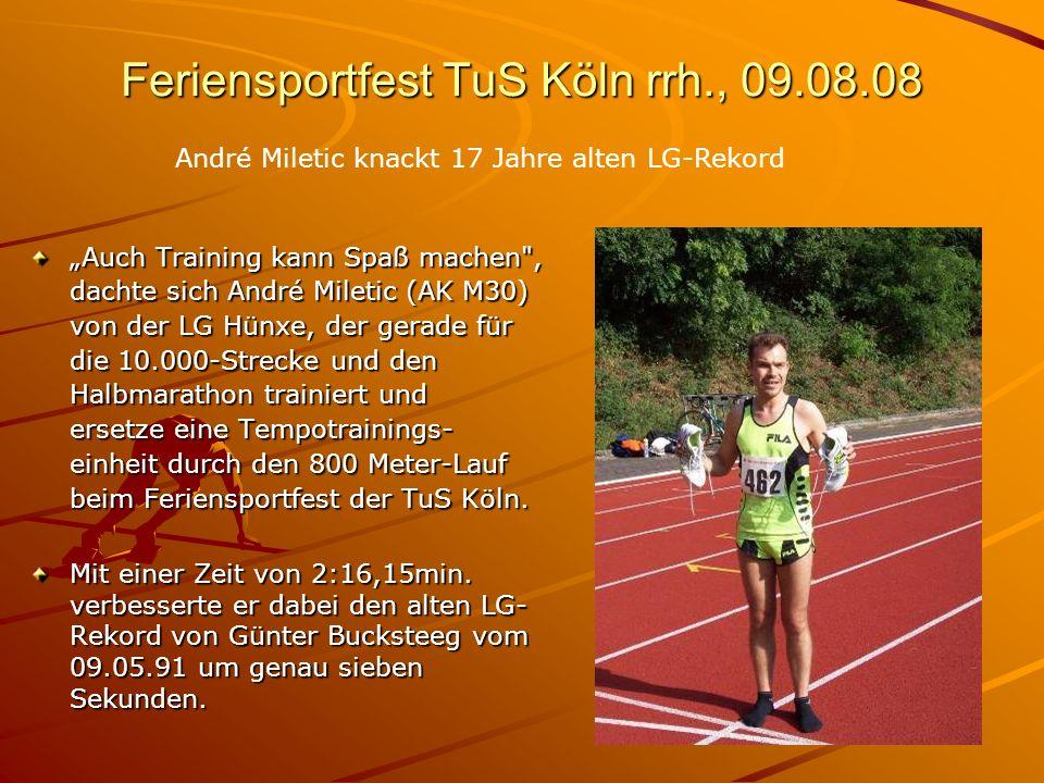 Feriensportfest TuS Köln rrh., 09.08.08 Auch Training kann Spaß machen