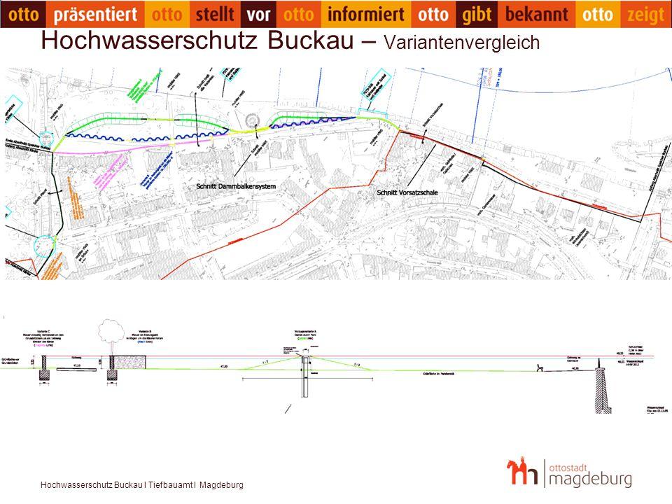 Hochwasserschutz Buckau I Tiefbauamt I Magdeburg Hochwasserschutz Buckau – Variantenvergleich