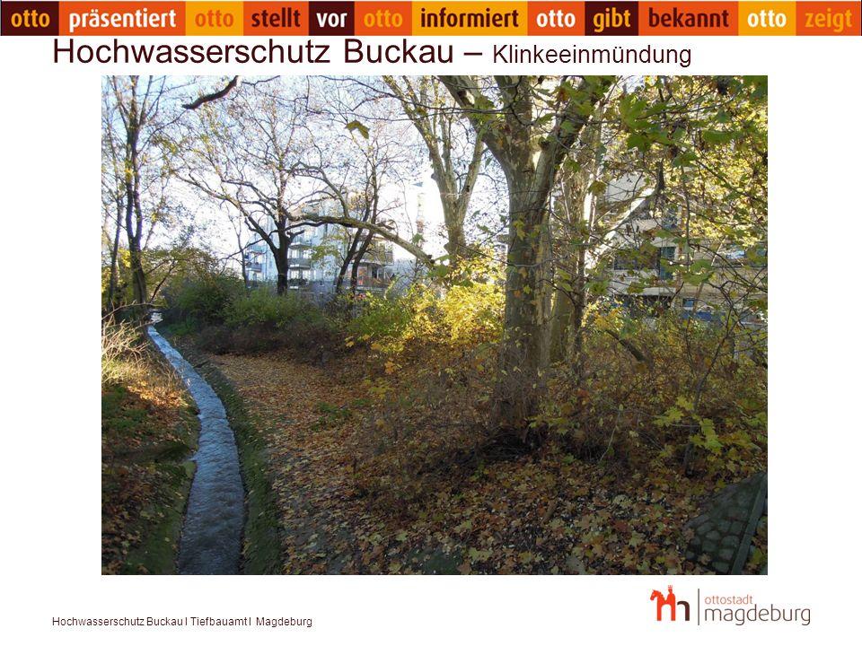 Hochwasserschutz Buckau I Tiefbauamt I Magdeburg Hochwasserschutz Buckau – Klinkeeinmündung
