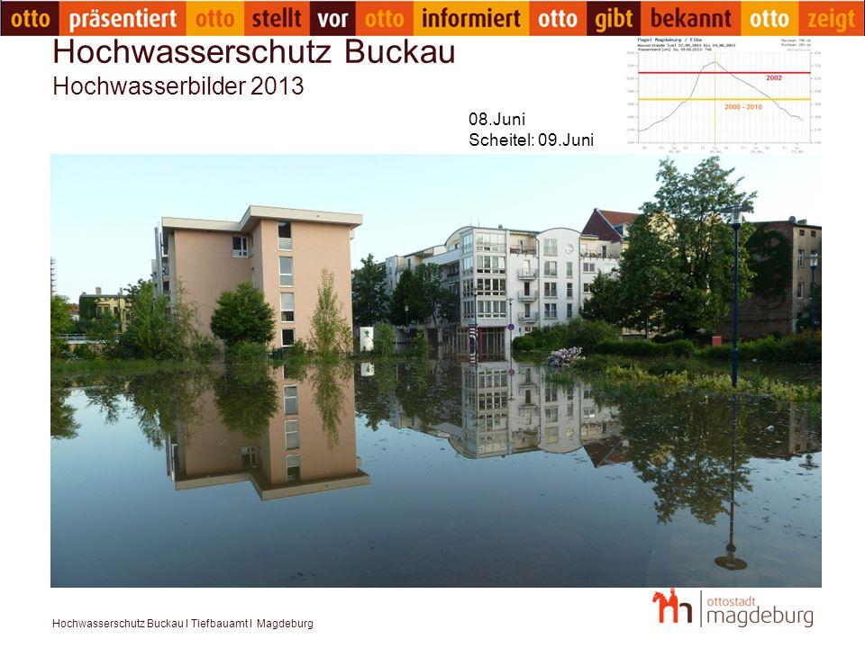 Hochwasserschutz Buckau I Tiefbauamt I Magdeburg Hochwasserschutz Buckau – Variante mobile Wände Quelle: ThyssenKrupp Mobiler Hochwasserschutz