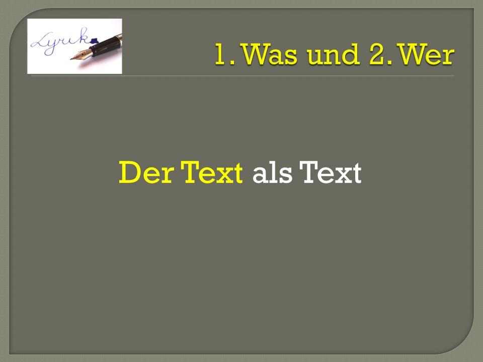 Der Text als Text