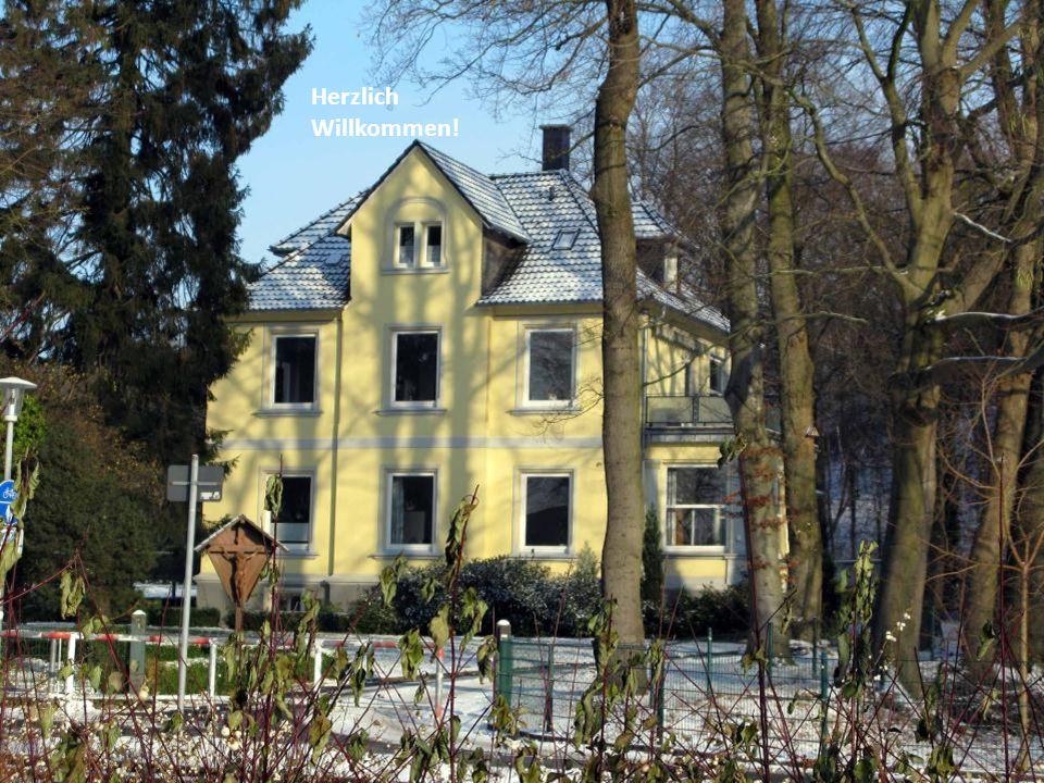Blick vom Ententeich zum Pfarrhaus