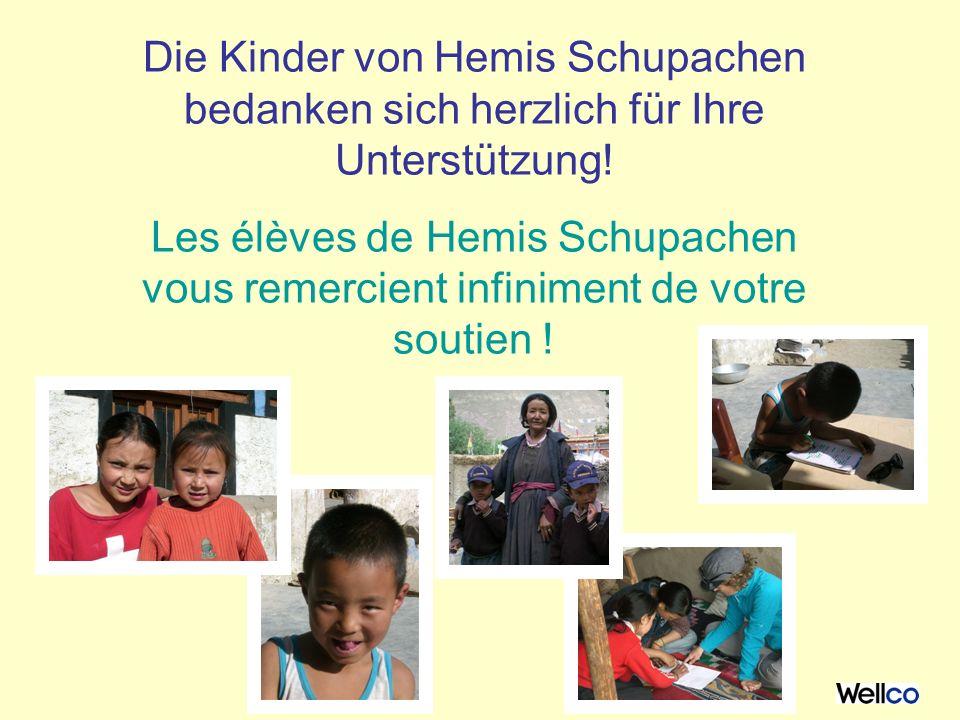 Die Kinder von Hemis Schupachen bedanken sich herzlich für Ihre Unterstützung.