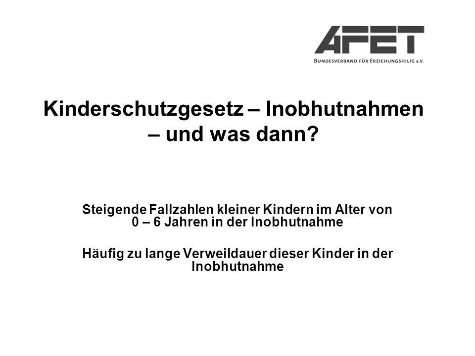 Kinderschutzgesetz – Inobhutnahmen – und was dann.