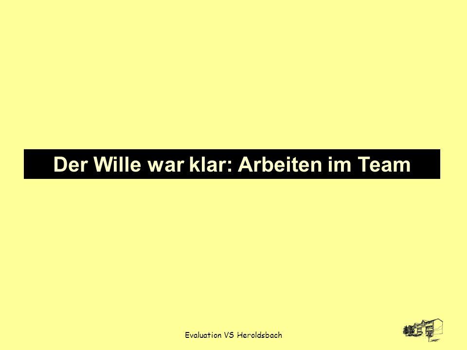 Evaluation VS Heroldsbach Der Wille war klar: Arbeiten im Team
