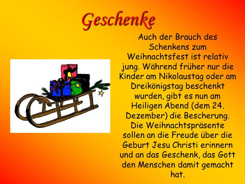 Weihnachtsbaum Der Christbaum ist dabei ein relativ junger Brauch zum Weihnachtsfest, der erst im 18. Jahrhundert zunächst in den großen Städten moder