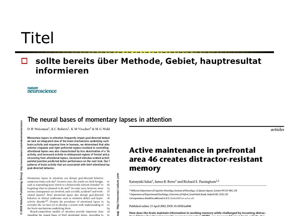 Titel Finding a new target in an old display: evidence for a memory recency effect in visual search.