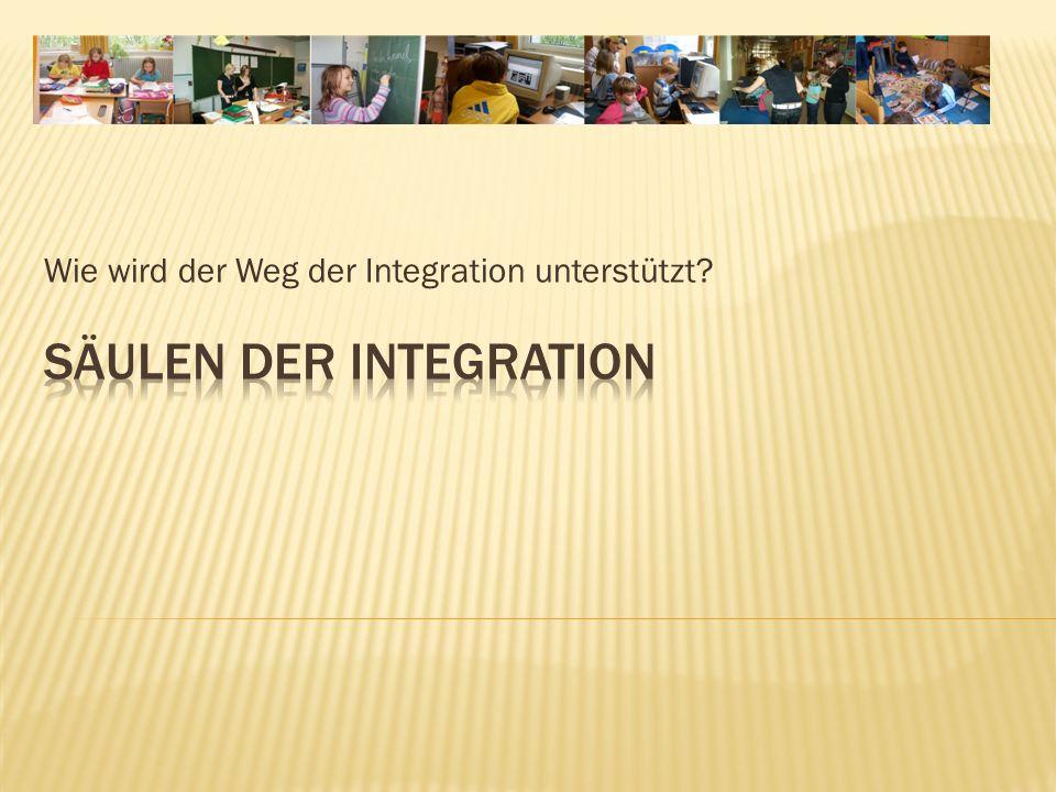 Wie wird der Weg der Integration unterstützt?