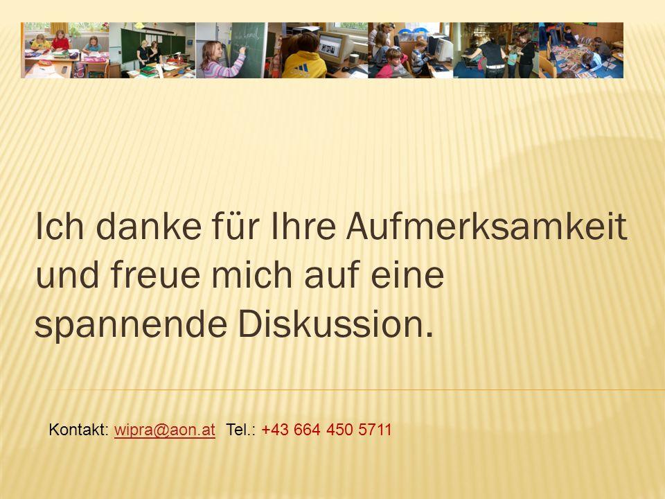 Ich danke für Ihre Aufmerksamkeit und freue mich auf eine spannende Diskussion. Kontakt: wipra@aon.at Tel.: +43 664 450 5711wipra@aon.at
