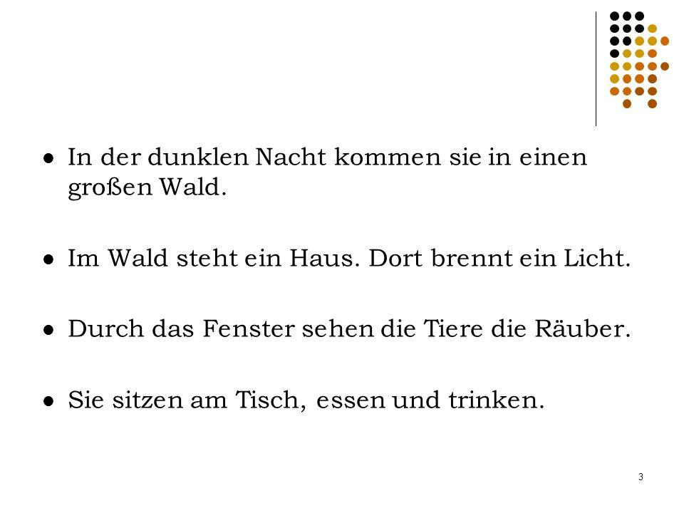 2 Eines Tages geht ein alter Esel nach Bremen.Er will ein Stadtmusikant werden.