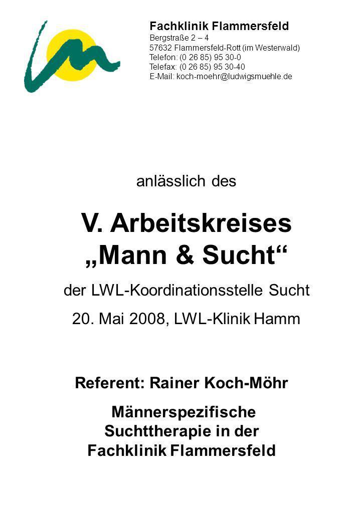 Fachklinik Flammersfeld Bergstraße 2 – 4 57632 Flammersfeld-Rott (im Westerwald) Telefon: (0 26 85) 95 30-0 Telefax: (0 26 85) 95 30-40 E-Mail: koch-m