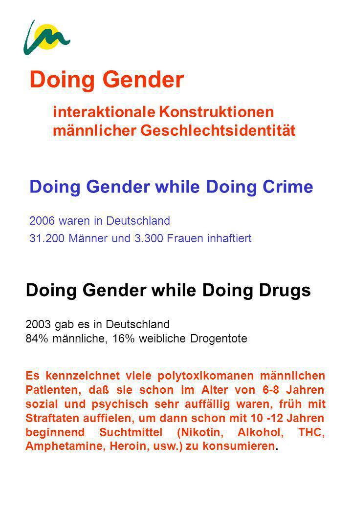 Doing Gender interaktionale Konstruktionen männlicher Geschlechtsidentität Doing Gender while Doing Crime 2006 waren in Deutschland 31.200 Männer und
