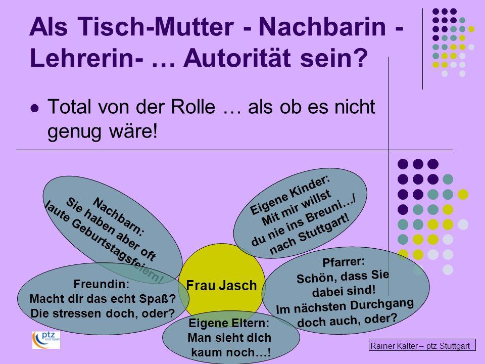 Rainer Kalter – ptz Stuttgart Total von der Rolle … als ob es nicht genug wäre! Frau Jasch Pfarrer: Schön, dass Sie dabei sind! Im nächsten Durchgang