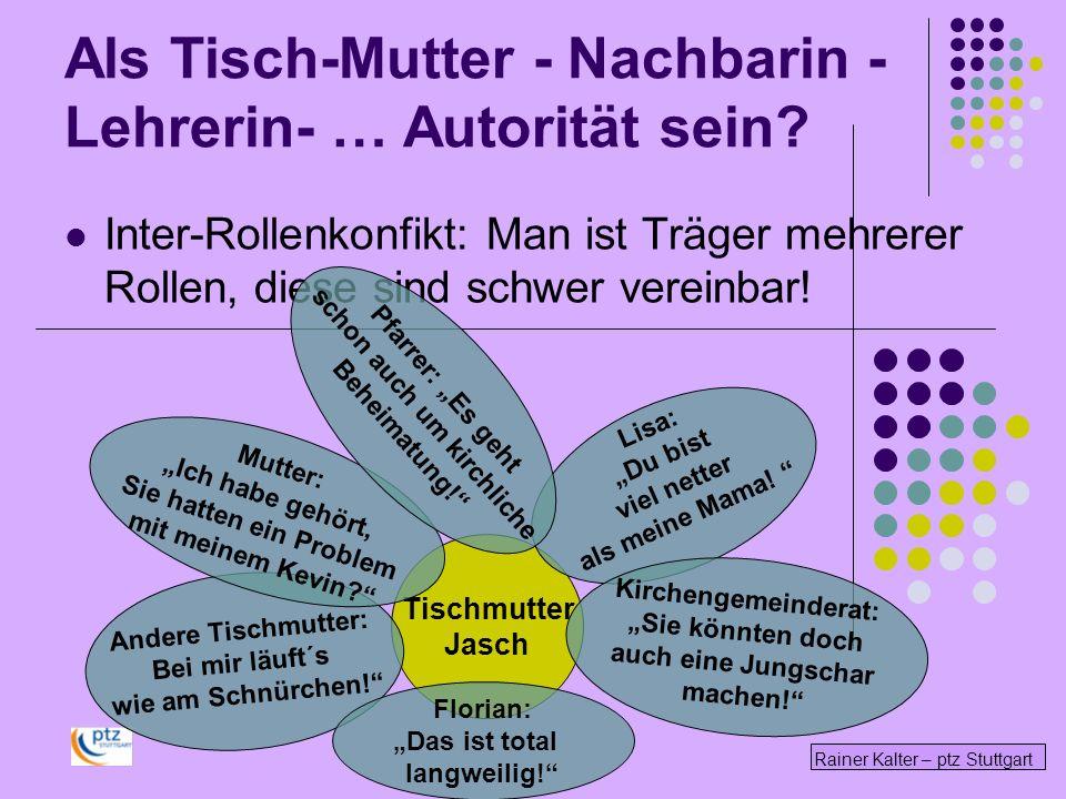 Rainer Kalter – ptz Stuttgart Inter-Rollenkonfikt: Man ist Träger mehrerer Rollen, diese sind schwer vereinbar! Tischmutter Jasch Andere Tischmutter: