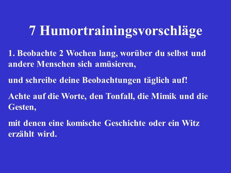 7 Humortrainingsvorschläge 1.