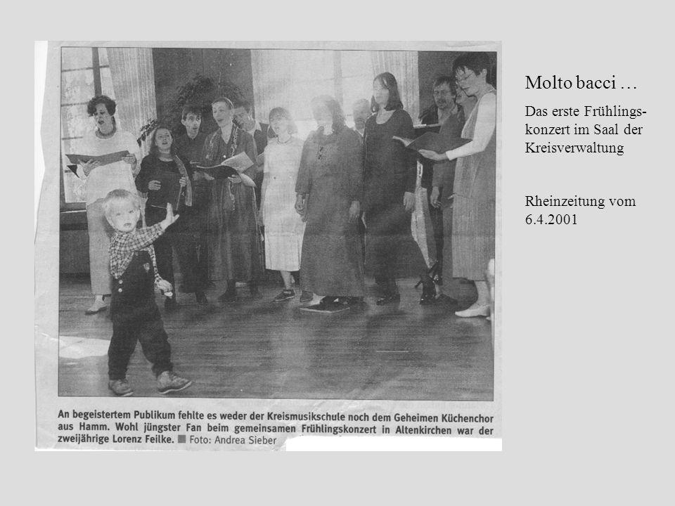 Molto bacci … Das erste Frühlings- konzert im Saal der Kreisverwaltung Rheinzeitung vom 6.4.2001