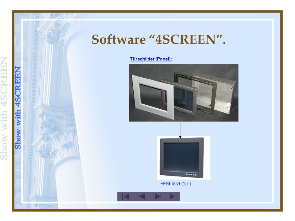 Türschilder (Panel): FPM-50G (15) Software 4SCREEN.